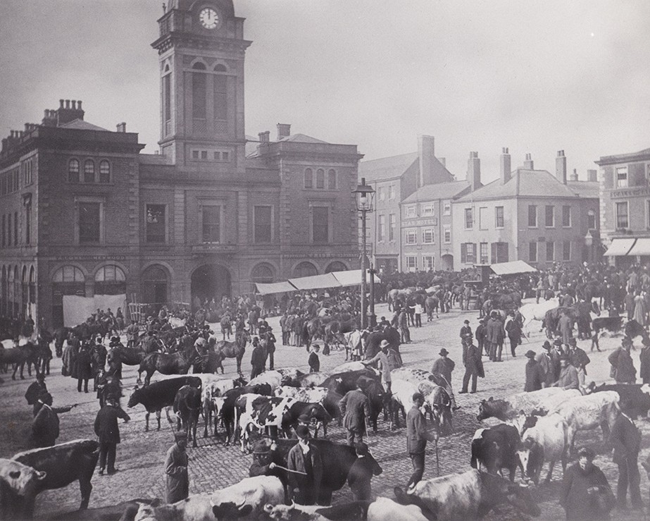 Market Place Chesterfield - September Fair 1882
